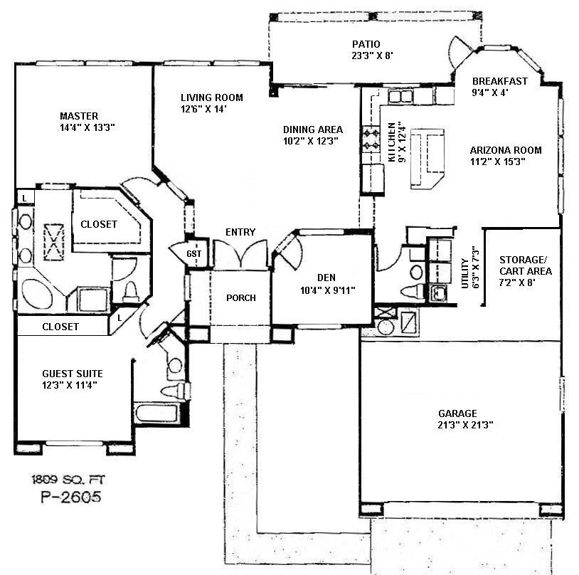 Single Family Floor Plans Sun City West Arizona Real